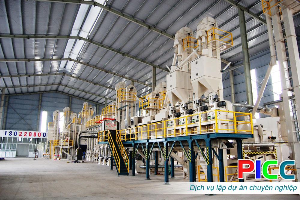 Đầu tư xây dựng nhà máy xay xát lúa gạo
