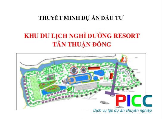 Dự án Đầu Tư Khu Du Lịch Nghỉ Dưỡng Reort Tân Thuận Đông