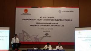 Hội thảo tham vấn về sửa đổi Luật Đầu tư công