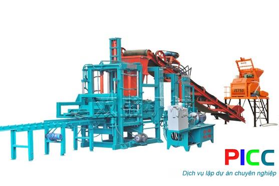 Nhà máy chế tạo thiết bị sản xuất gạch không nung tỉnh Bình Dương
