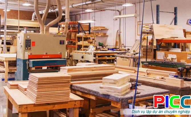 Nhà máy sản xuất gỗ nội thất Tâm Quang Minh tỉnh Quảng Nam