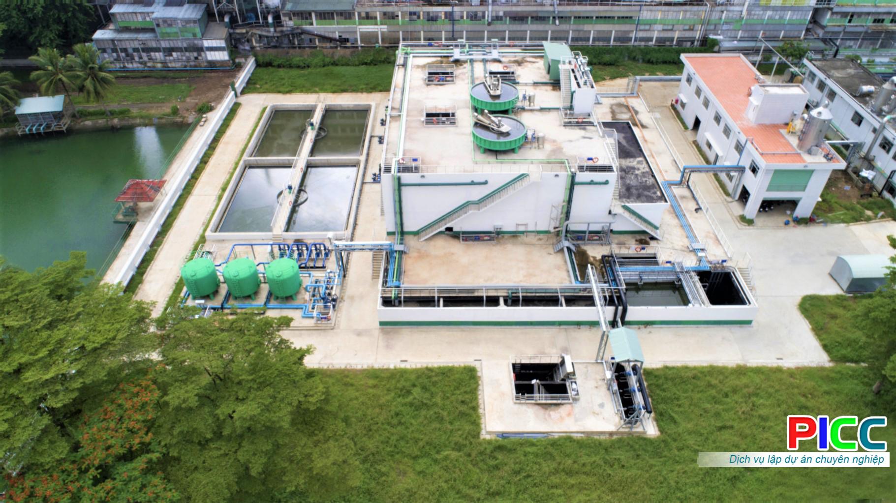 Nhà máy xử lý môi trường khu công nghiệp Yên Bình