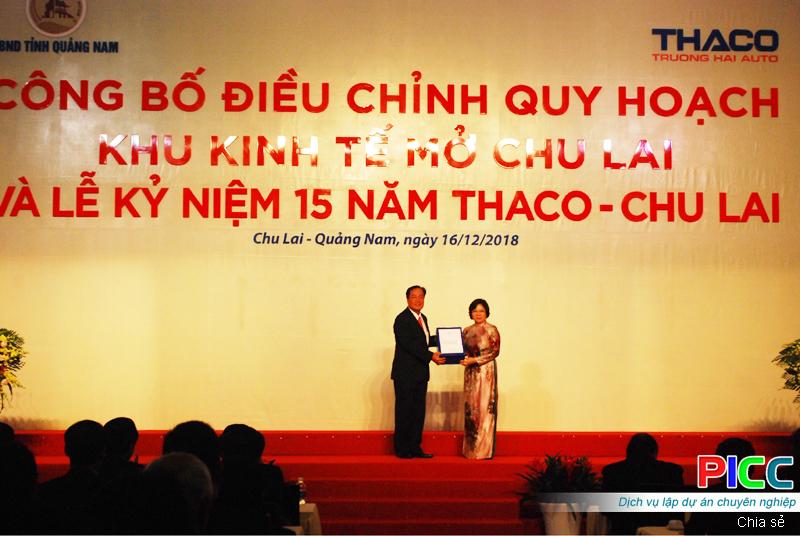 Quảng Nam: Công bố Quyết định điều chỉnh quy hoạch chung Khu Kinh tế mở Chu Lai